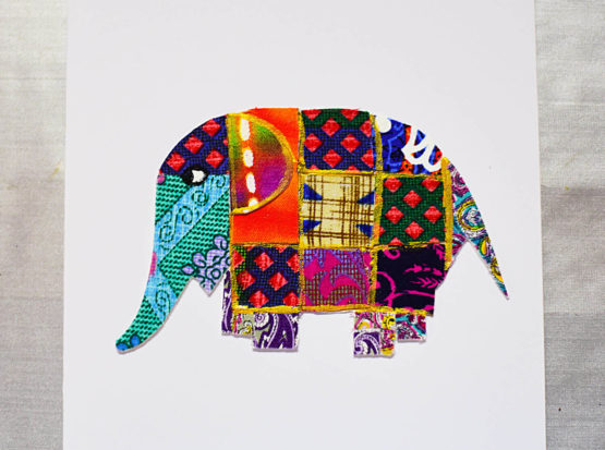 elephant collage by Thimble